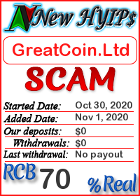 GreatCoin.Ltd status: is it scam or paying