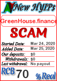 GreenHouse.finance status: is it scam or paying
