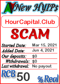 HourCapital.Club status: is it scam or paying