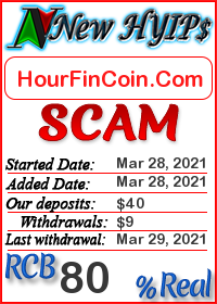 HourFinCoin.Com status: is it scam or paying