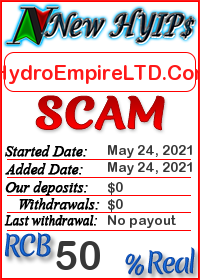 HydroEmpireLTD.Com status: is it scam or paying