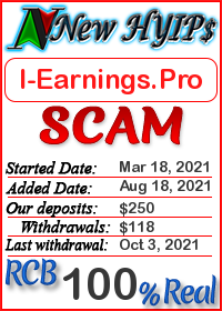 I-Earnings.Pro status: is it scam or paying