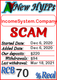 IncomeSystem.Company status: is it scam or paying