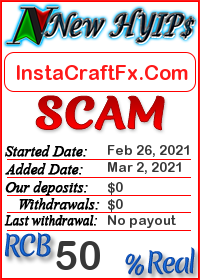 InstaCraftFx.Com status: is it scam or paying
