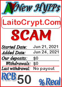 LaitoCrypt.Com status: is it scam or paying