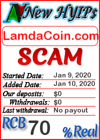 LamdaCoin.com status: is it scam or paying
