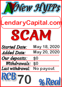 LendaryCapital.com status: is it scam or paying