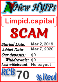Limpid.capital status: is it scam or paying