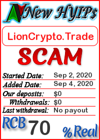 LionCrypto.Trade status: is it scam or paying
