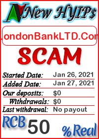 LondonBankLTD.Com status: is it scam or paying
