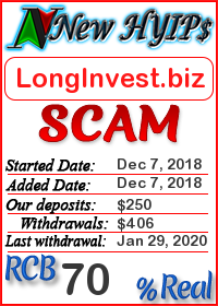 LongInvest.biz status: is it scam or paying