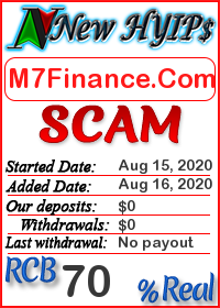 M7Finance.Com status: is it scam or paying