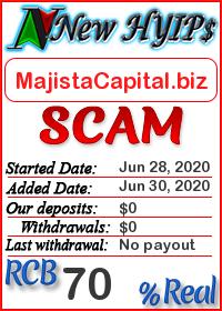 MajistaCapital.biz status: is it scam or paying
