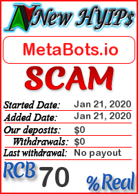 MetaBots.io status: is it scam or paying