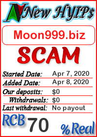 Moon999.biz status: is it scam or paying