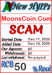 MoonsCoin.Com status: is it scam or paying