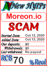 Moreon.io status: is it scam or paying