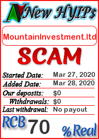 MountainInvestment.ltd status: is it scam or paying