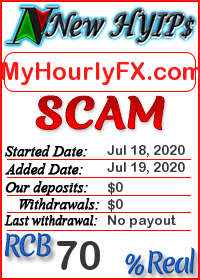 MyHourlyFX.com status: is it scam or paying