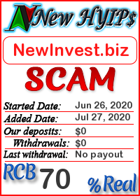 NewInvest.biz status: is it scam or paying