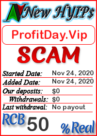 ProfitDay.Vip status: is it scam or paying