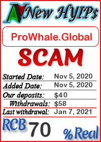 ProWhale.Global status: is it scam or paying
