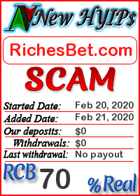 RichesBet.com status: is it scam or paying