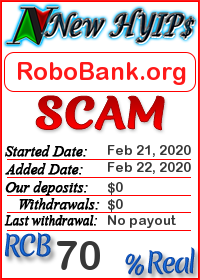 RoboBank.org status: is it scam or paying
