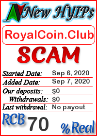 RoyalCoin.Club status: is it scam or paying