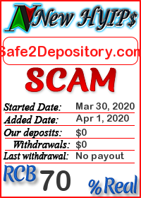 Safe2Depository.com status: is it scam or paying