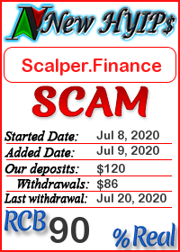 Scalper.Finance status: is it scam or paying