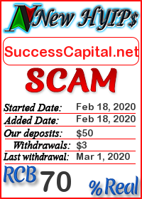 SuccessCapital.net status: is it scam or paying