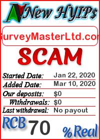 SurveyMasterLtd.com status: is it scam or paying
