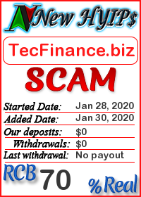TecFinance.biz status: is it scam or paying