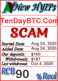 TenDayBTC.Com status: is it scam or paying