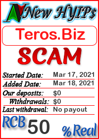 Teros.Biz status: is it scam or paying