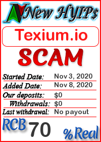 Texium.io status: is it scam or paying