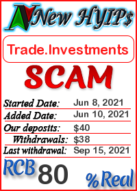 Trade.Investments status: is it scam or paying