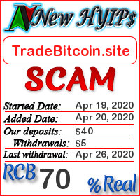 TradeBitcoin.site status: is it scam or paying
