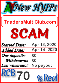 TradersMultiClub.com status: is it scam or paying