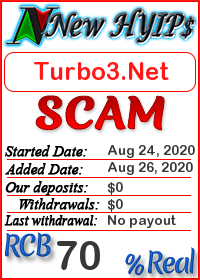 Turbo3.Net status: is it scam or paying