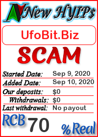 UfoBit.Biz status: is it scam or paying