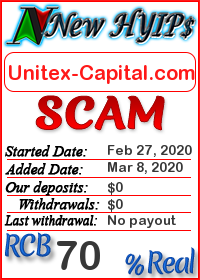 Unitex-Capital.com status: is it scam or paying