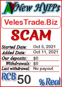 VelesTrade.Biz status: is it scam or paying