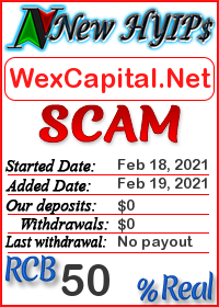 WexCapital.Net status: is it scam or paying