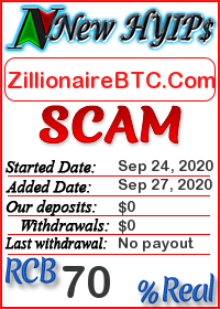 ZillionaireBTC.Com status: is it scam or paying