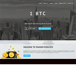 TradeBitcoin.site shot