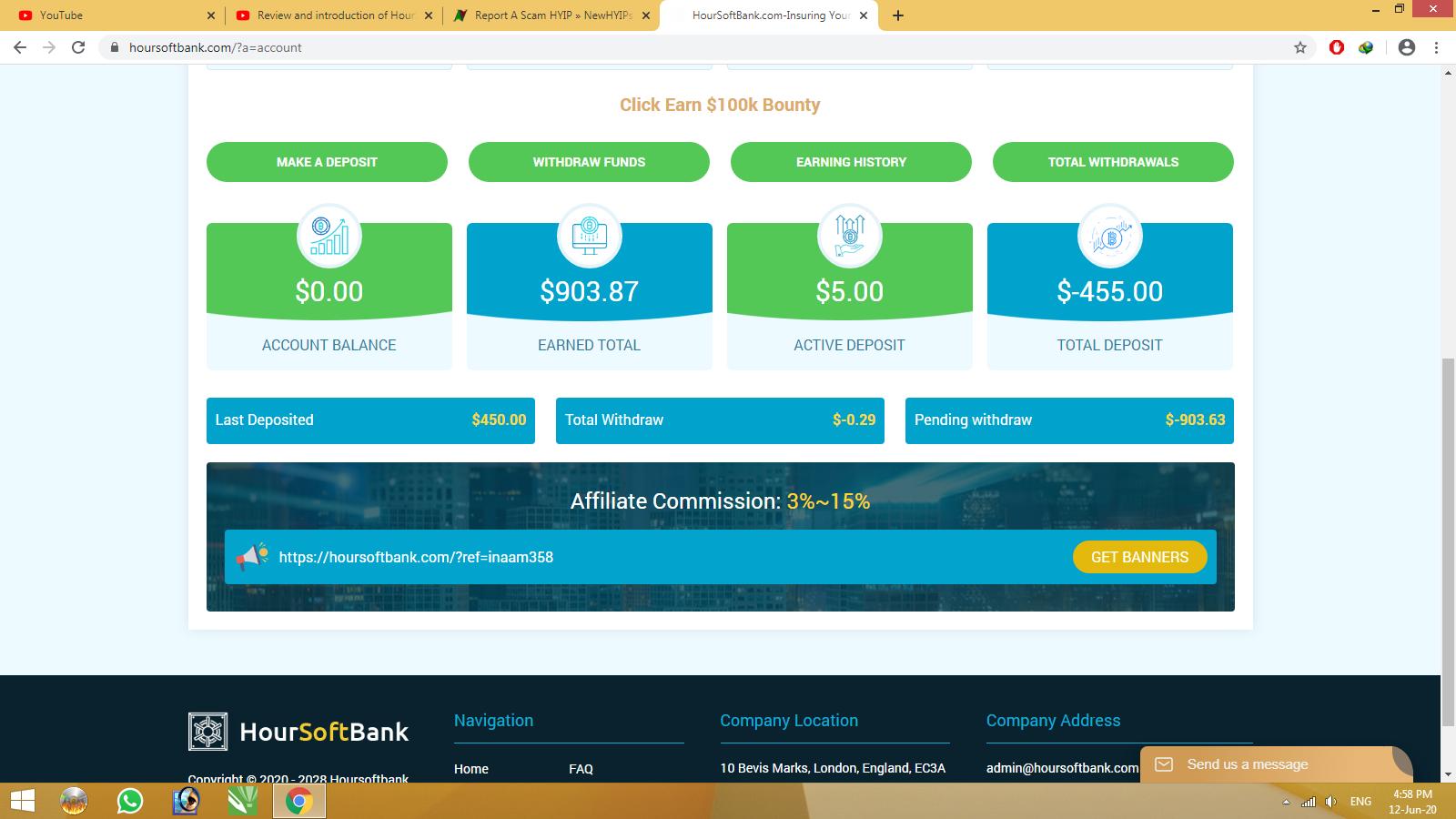 HourSoftBank.com scam