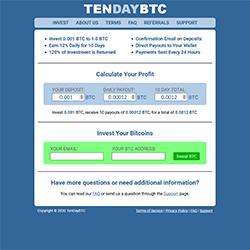 TenDayBTC.Com shot